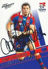 Signed 2012 NEWCASTLE KNIGHTS NRL Card ADAM CUTHBERTSON