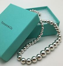 Tiffany & Co Silver Bead Necklace Ball Graduated Strand