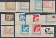 Croatia NDH help for railway stages of printing imperforated 1944 MNH **