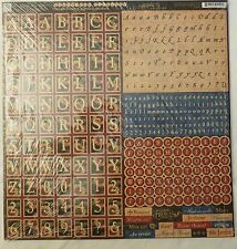 Graphic 45 French Country Alphabet Stickers 12 x 12 - 1 sheet