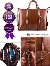 Women Vintage Genuine Leather Tote Shopping Business Shoulder Bag Handbag Purses