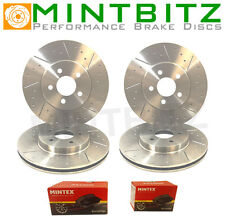 BMW E46 320 325 328 Front Rear Brake Discs and Pads Dimpled And Grooved