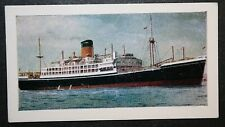 SS GOTHIC  Shaw Savill Line     Illustrated Colour Card