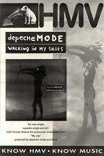 1/5/93PGN40 DEPECHE MODE : WALKING IN MY SHOES SINGLE ADVERT 15X11""