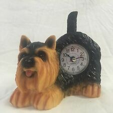 EASTER SALE Critter Clock Yorkshire Terrier Tabletop Wagging Tail Puppy Dog
