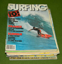 Vintage 1970s 1980s SURFING Magazine Lot of 82 Surf Mag Collectors MUST L@@K