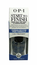 OPI Start To Finish Base Coat, Top Coat - Nail Strengthener, 0.5 oz
