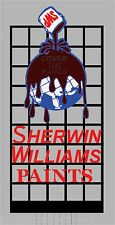 Miller's Sherwin Williams Paints Animated Neon Sign O/HO 9981 MILLER ENGINEERING