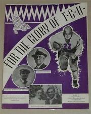 1938 T.C.U. Texas Christian Song Magazine Earl Dutch Clark ~ Davey O'Brien TCU