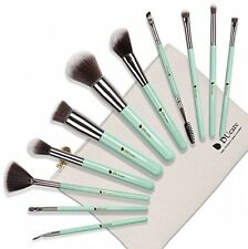 Flash Sale 2016 DUcare 11Pcs Makeup Brush Set With Roll Cases For Girls(Mint