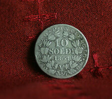 10 Soldi 1867 Papal States Vatican Italy Silver World Coin KM1376 50 centesimi