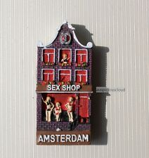 TOURIST SOUVENIR 3D FRIDGE MAGNET - Amsterdam Sex Shop , Netherlands / Holland
