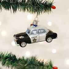 Old World Christmas Police Car Glass Blown Ornament 46044