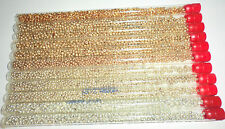 "Vintage Antique Glass Seed Beads Lot Gold Silver Metallic Mix 6"" Tubes Westrim"
