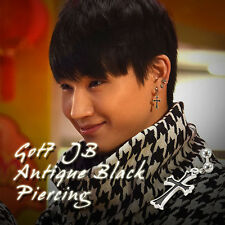 GOT7 JB Antique Black Cross Piercing KPOP Fashion Jewelry Made In Korea 1Piece