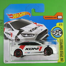 Hot Wheels 2017-Ford Focus RS-Speed Graphics - 79-nuevo en caja original