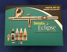 NEW Iwata Eclipse HP-CS Airbrush BONUS VALUE SET - WaterFilter Paint & Superlube
