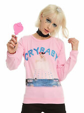 MELANIE MARTINEZ CRY BABY PULLOVER TOP T SHIRT SZ L PINK ALBUM COVER ART NEW