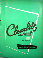Fourco Glass Company Catalog CLEARITE SHEET 1950's Asbestos Used in Manufacture
