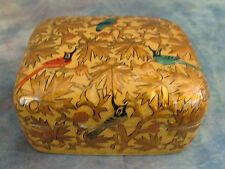 Vintage Suffering Moses Hand Painted Lacquer Trinket Box Kashmir India