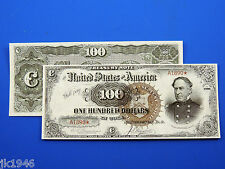 Replica $100 1890 T-Note US Paper Money Currency Copy
