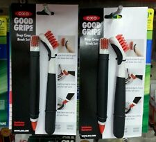 2 OXO Good Grips Deep Clean Brush Sets Great for Shower Door Tracks and Grout
