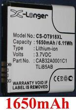 Batterie 1650mAh type CAB1500007C1 CAB32A0001C1 Pour Alcatel One Touch 918 Mix