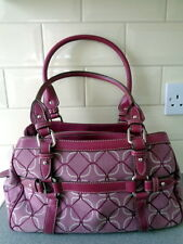 Nine West Purple Pink Signs Jacquard Fabric Tote Shopper Bag, Hardly used