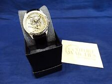 Adrienne Watch Real Collectibles Crystals Tiger Black Leather Band Ltd Edition