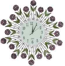 "Flower Burst Wall Clock, Size 24"", Perfect for House-warming Gifts, (Number 24"")"