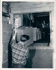 Shipping Clerk Moving Boxes Blossom Plant Allentown PA Press Photo