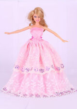 Wholesale Handmade Pink The original soft clothes dress for barbies doll 47