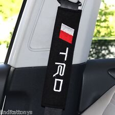 BRAND NEW Car Seat Belt Shoulder Pad Pair 2 pieces Covers Cushion Toyota TRD
