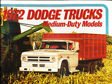 1972 Dodge Medium Duty Truck Grade-B Sales Brochure Catalog - D500 D600 D800