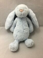 JellyCat Baby Bashful Blue Bunny Rabbit Rattle Plush Toy Soft Floppy Ears