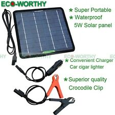 5W Portable Solar Panel Power Battery Charger Backup for Car RV Yacht Travel