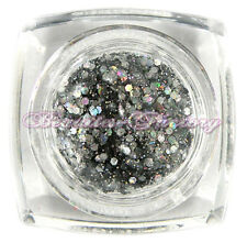 BF Silver Big Glitter Nail Art UV Gel High Shine Top Acrylic Gel Polish #CGEL7