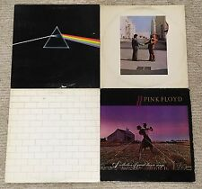 PINK FLOYD - 4 LP RECORD Lot DSOTM + WISH YOU WERE HERE + THE WALL + DANCE SONGS