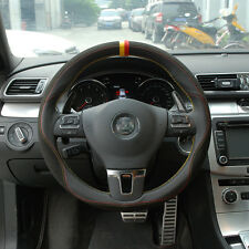 Brand New DIY Genuine leather Hand-stitched Car Steering Wheel Cover for VW CC
