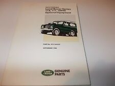 LAND ROVER Original PARTS CATALOGUE Series IIA & III 109 V8 #RTC9842CE Sept 1988