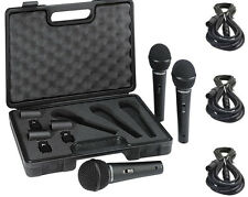 Behringer XM1800S 3X Dynamic Handheld Microphone XM1800 & 3X 20' XLR Mic Cables