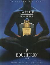 Publicité Advertising 1996  Parfum  JAIPUR HOMME de BOUCHERON