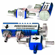 ADJUSTABLE 1-30PSI TURBO BOOST Manual CONTROLLER In-Cabin RACING Bypass Kit BLUE