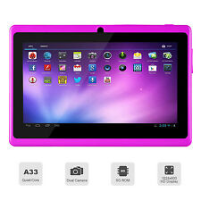 7 pouces 3g 8go quad core android 4.4 tactile tablette pc wifi bluetooth Mauve