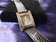 Woman's Quartz  Watch with Blue M.O.P. Face and Genuine Leather **Nice** FF-558