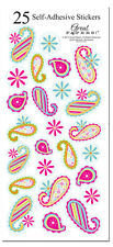 25 Patterned Paisley Colorful Stickers Wedding Invitation Seals