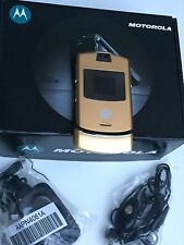 Motorola RAZR V3 - Gold (Factory Unlocked) GSM Cellular Phone New