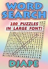 Word Search : 100 Puzzles in Large Font! by Djape (2014, Paperback, Large Type)
