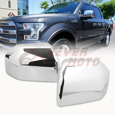 Pair Chrome ABS Side Door Rearview Mirror Cover Trim For 2015-2016 Ford F-150 FM