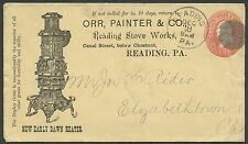"2¢ RED ENTIRE ILLUST ADVT COVER ORR,PAINTER & Co ""READING STOVE WORKS"" VF BS1773"